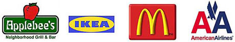 Applebee's, IKEA, McDonald's and American Airlines